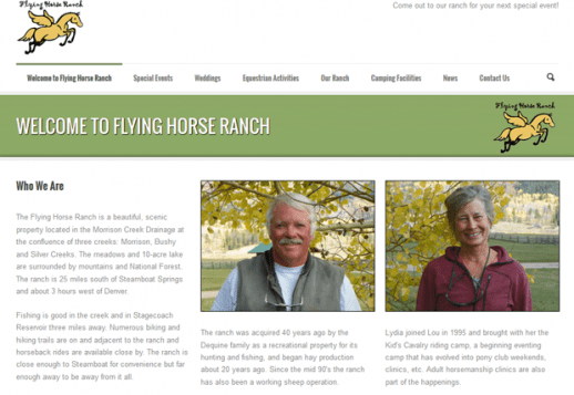Visit the Flying Horse Ranch Web Site