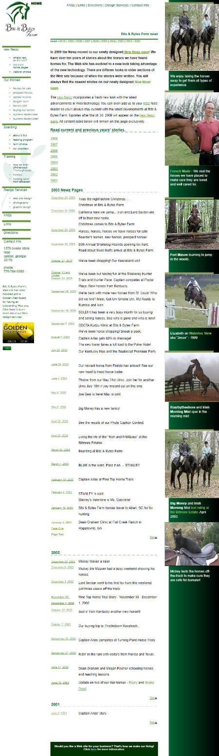 Bits & Bytes Farm Website Early 2000's