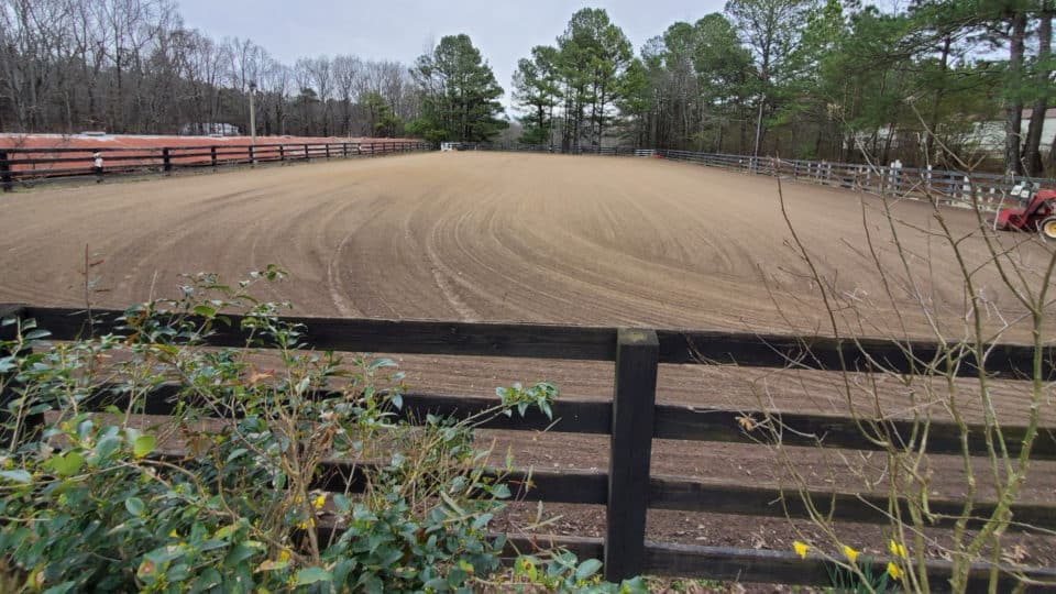 Riding Arena at Bits & Bytes Farm - February 23